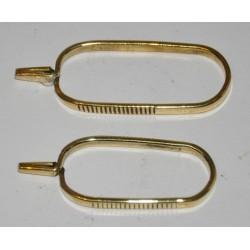 Pinza de hackle brass