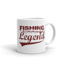 Taza Fishing Legend Marrón