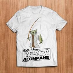 Camiseta Yoda pescando