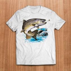 Camiseta Trucha Saltando